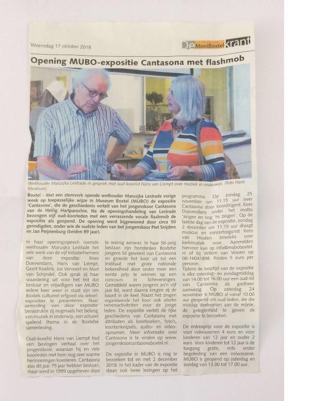 2018 opening expositie Cantasona in MUBO