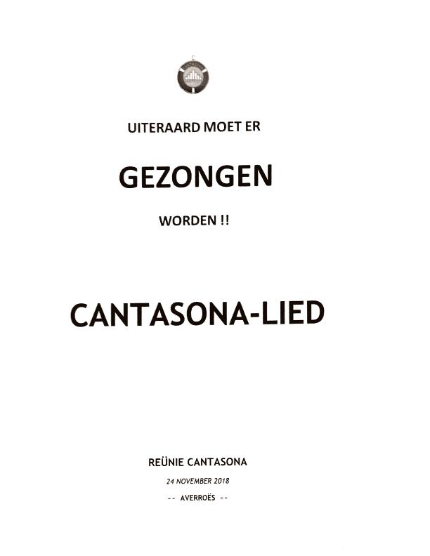 2018 Cantasona lied reünie
