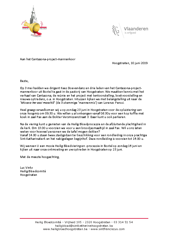 2019 Brief Hoogstraten Aan Cantasona