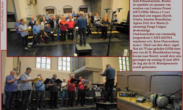 Foto: 2e repetitie Zangers van Cantasona