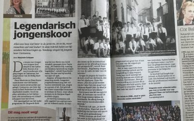 Cantasona in de Telegraaf!