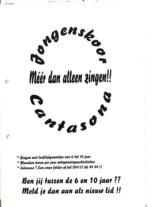 1997 Folder werving