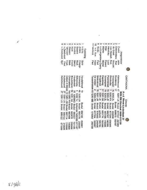 1997 Ledenlijst