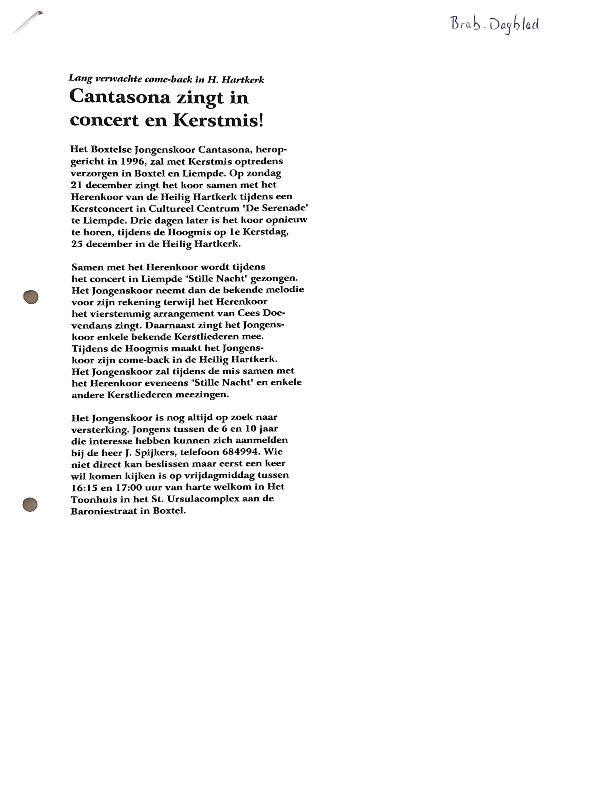 1997 artikel Brabants Dagblad