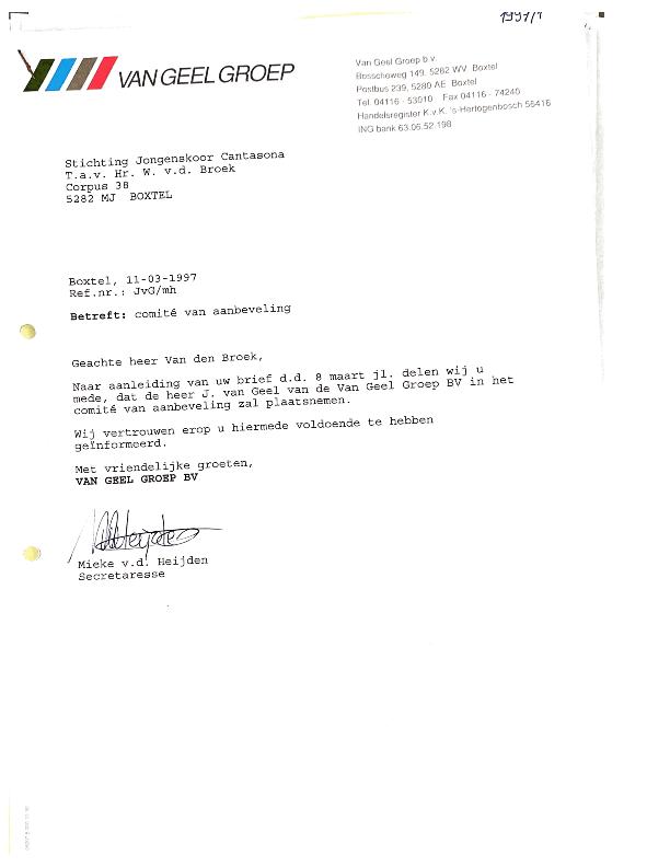 1997 lid commissie van aanbeveling