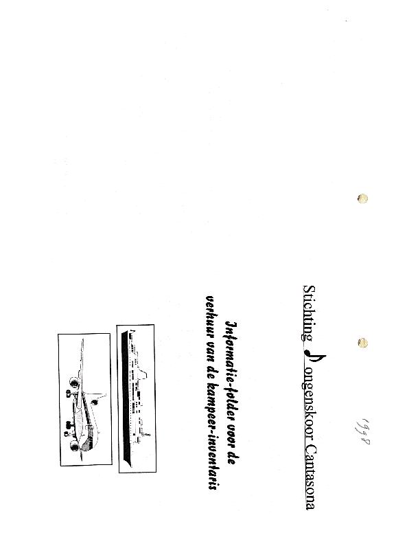 1998 Informatiefolder voor verhuur kampinventaris