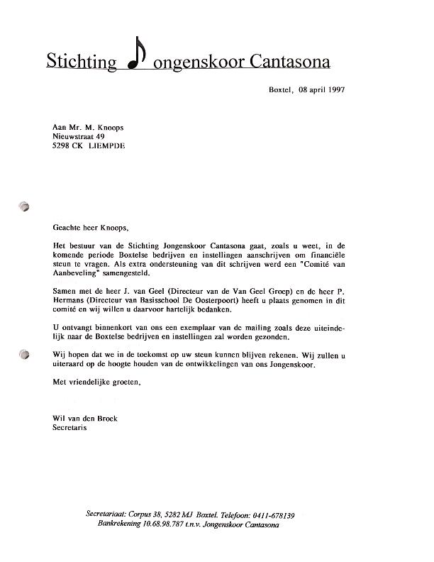 1997 april commissie van aanbeveling
