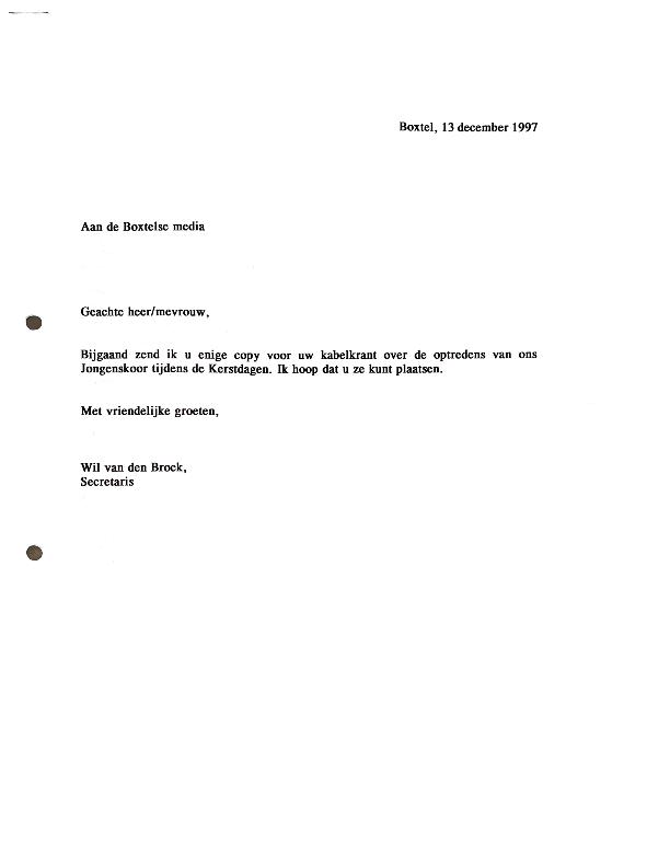 1997 PR Boxtelse kranten