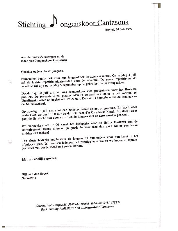 1997 brief ouders mbt vakantie