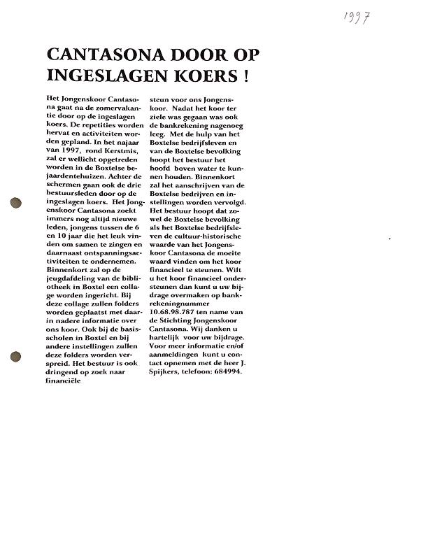 1997 krantenartikel juni